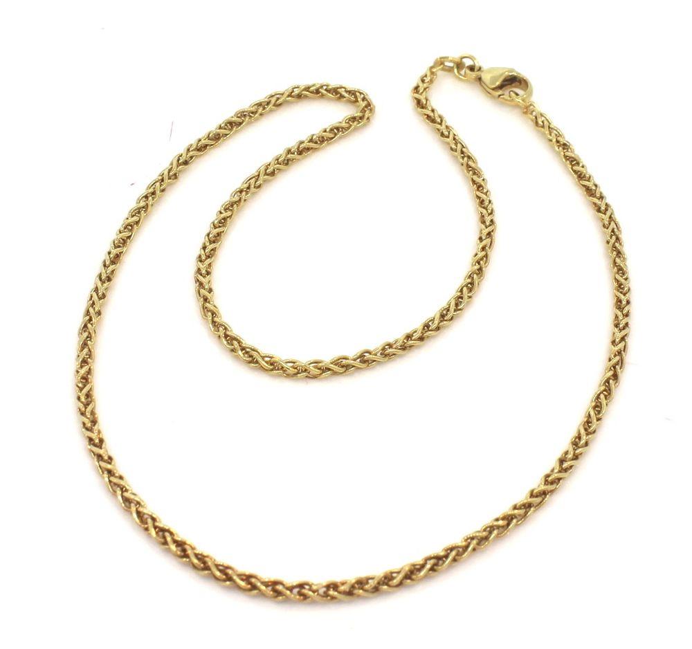 Palme guld halskæde i 8 karat guld 2.1 mm