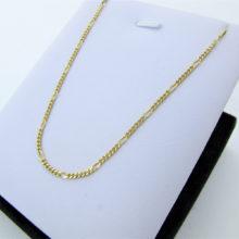 Fin figarokæde i 14 karat guld 50 cm. lang