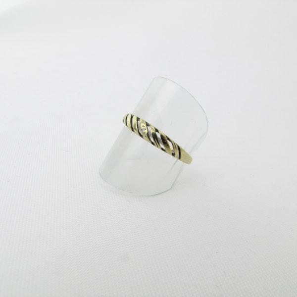 Enkel 8 karat guldring til salg - brug fingerring i 8k guld sælges