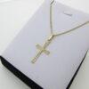 Fin panser halskæde og kors i 8 karat guld