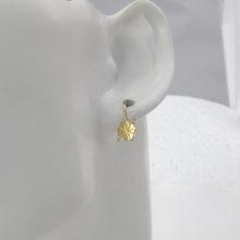 Firkløver øreringe i 14 karat guld - brugt ørering med firkløvere
