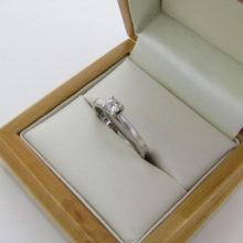 'Forever' forlovelsesring i 18 karat hvidguld med 0,22 ct. diamant