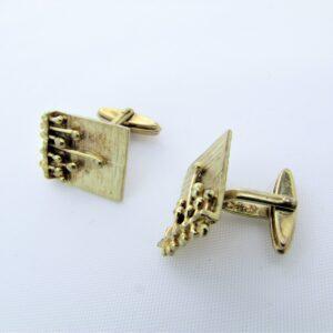 Guld manchetknapper UNISEX kunsthåndværk i 8 karat guld