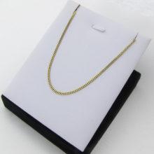 pKort men tæt og solid panser halskæde 40 cm 8 karat guld