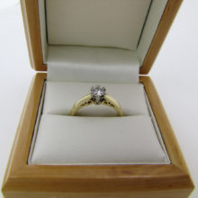 Romantisk solitaire ring brillant 18 karat guld med .25 ct diamant