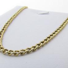 Stor Solid panser halskæde i 8 karat guld - Brugt halskæde sælges