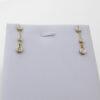 brugte Lange Brillant dråbe øreringe 0,25 ct. billigt til salg