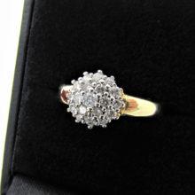 Guld rosette ring i 14 karat - 0.50 ct Brillantring brugt til salg