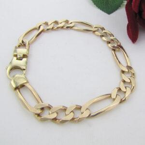 Figaro Guld armbånd i massiv guldsmede kvalitet