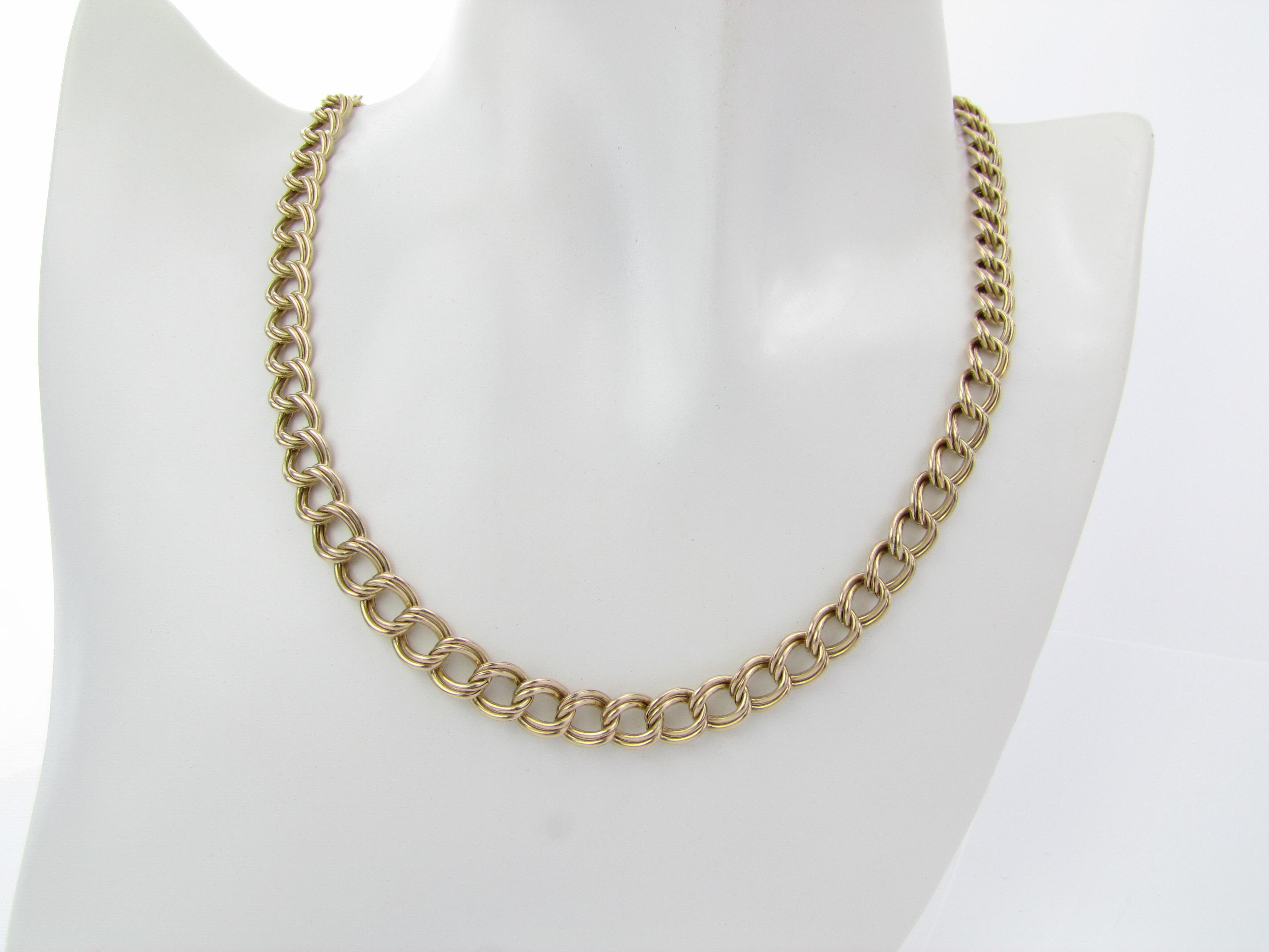 Fantastisk flot halskæde i 9 karat guld
