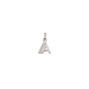 A Sølv vedhæng bogstav med zirkoner i 925 Sterling sølv