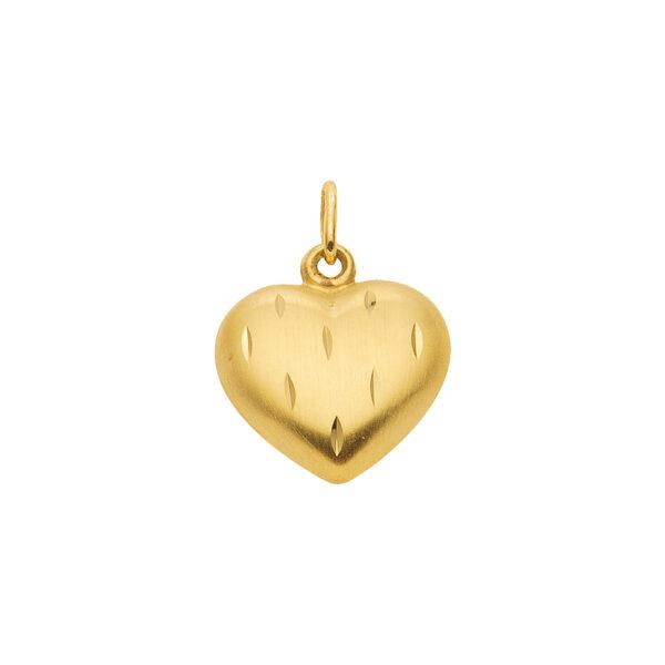 Lille guld hjerte med facetter