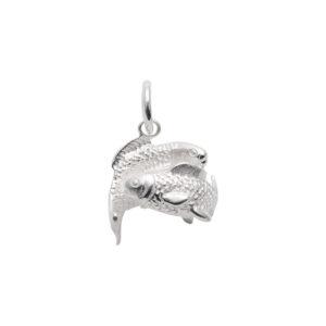 Sølv Fisk vedhæng med stjernetegnet fisken. Sterling Sølv vedhæng til salg