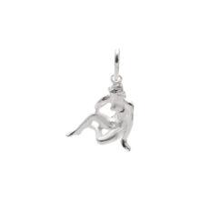 97-Sølv Jomfru vedhæng med stjernetegnet jomfruen. Sterling Sølv vedhæng til salg