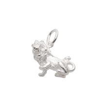 97-Sølv Løve vedhæng med stjernetegnet løven. Sterling Sølv vedhæng til salg