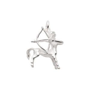 97-Sølv Skytte vedhæng med stjernetegnet skytten. Sterling Sølv vedhæng til salg