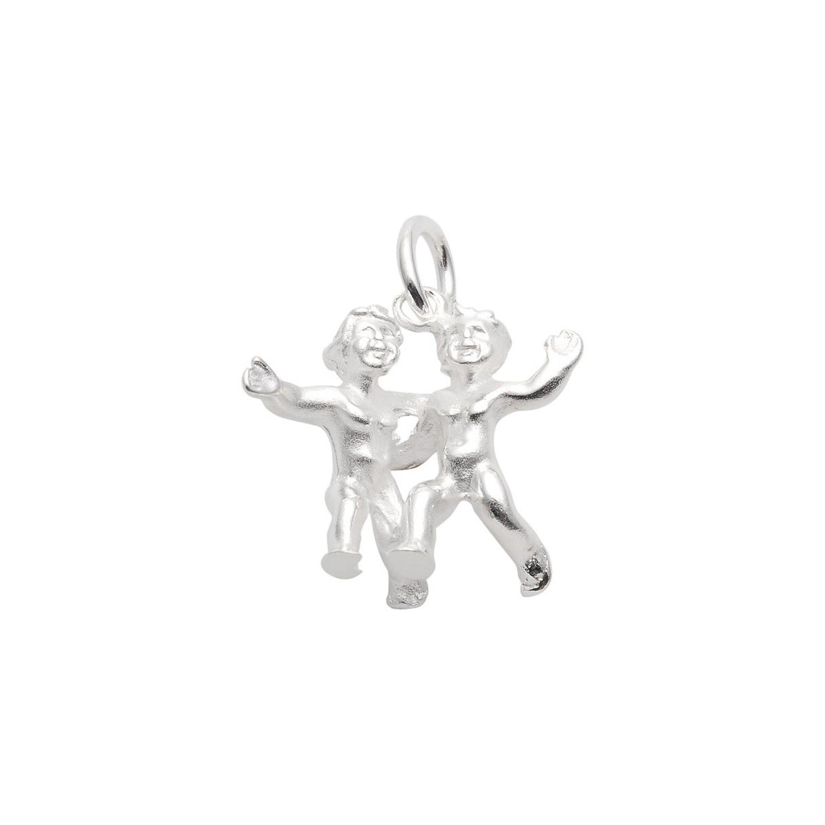 97-Sølv Tvilling vedhæng med stjernetegnet tvillingen. Sterling Sølv vedhæng til salg