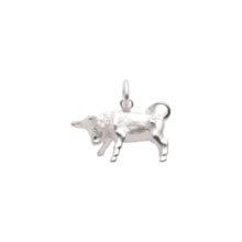 97-Sølv Tyr vedhæng med stjernetegnet tyren. Sterling Sølv vedhæng til salg