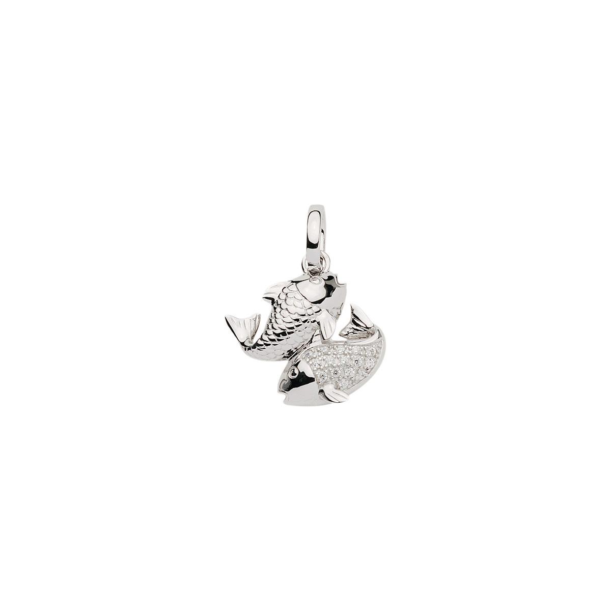 FISK sølv vedhæng - Fiskens Stjernetegn som sølv vedhæng til halskæder