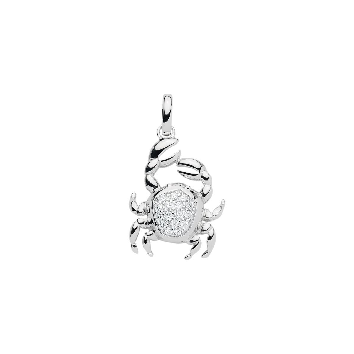99-KREBS sølv vedhæng - Krebsens Stjernetegn som sølv vedhæng til halskæder