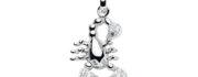 99-SKORPION sølv vedhæng - Skorpionens Stjernetegn som sølv vedhæng til halskæder