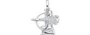 99-SKYTTE sølv vedhæng - Skyttens Stjernetegn som sølv vedhæng til halskæder
