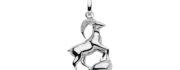 99-STENBUK sølv vedhæng - Stenbukkens Stjernetegn som sølv vedhæng til halskæder