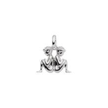 99-TVILLING sølv vedhæng - Tvillingens Stjernetegn som sølv vedhæng til halskæder