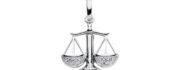 99-VÆGT sølv vedhæng - Vægtens Stjernetegn som sølv vedhæng til halskæder
