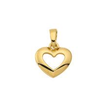 8 k guldhjerte vedhæng til kvinder. nye guldsmykker med hjerter
