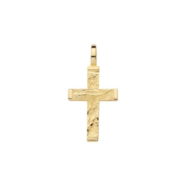Groft kors guld vedhæng i 8 & 14 karat