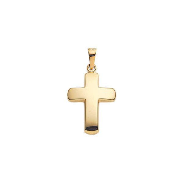 Kors guld vedhæng glat klassisk guld-kors i 8 og 14 karat