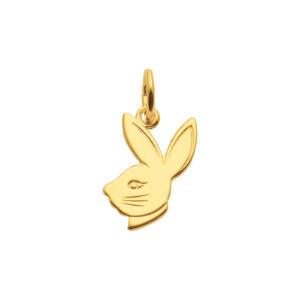 Playboy guld vedhæng - Kanin i 8 karat