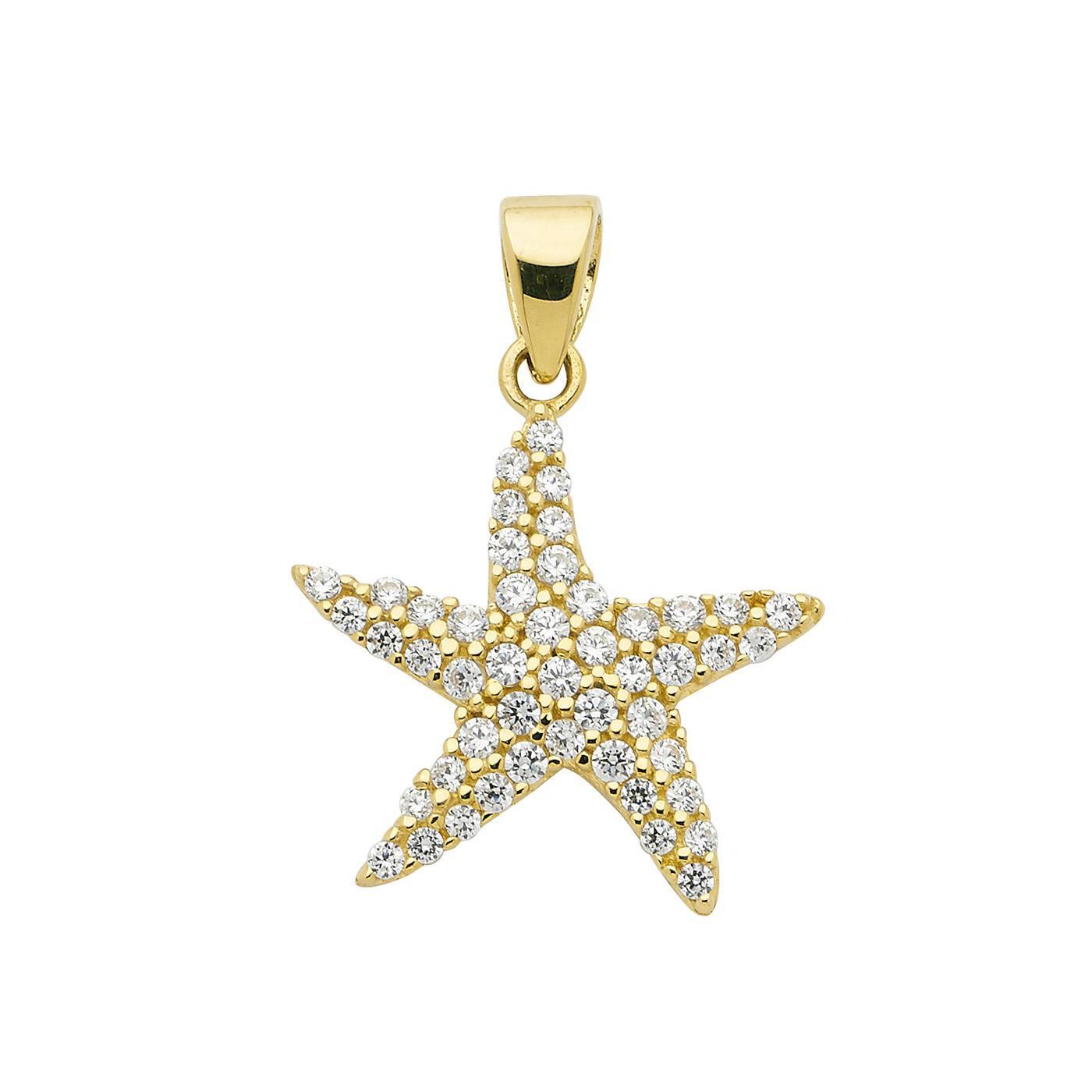 stjerne vedhæng i guld