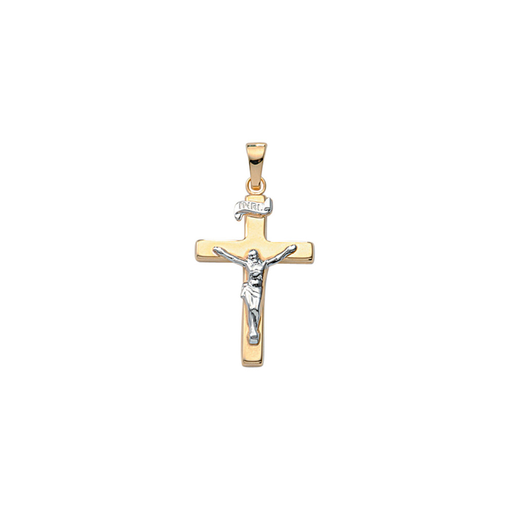 Jesus kors guld vedhæng klassisk smykke kors vedhæng