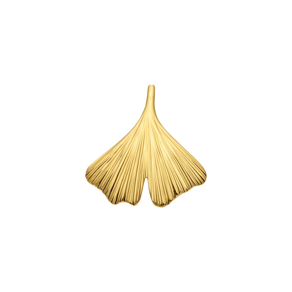 87814 Ginkgo blad vedhæng i guld