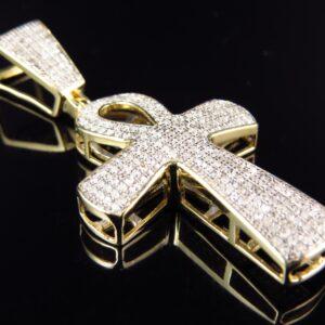 Kors guld vedhæng
