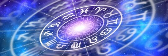 Et horoskophjul med de 12 astrologiske huse